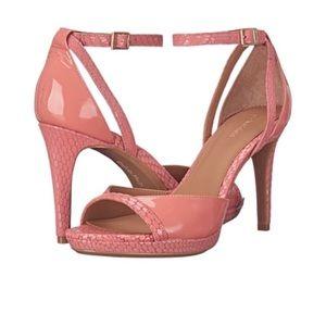 NWOT Calvin Klein Persy Platform Leather Pink Heel